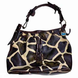 Dooney & Bourke Bucket Giraffe Drawstring Purse
